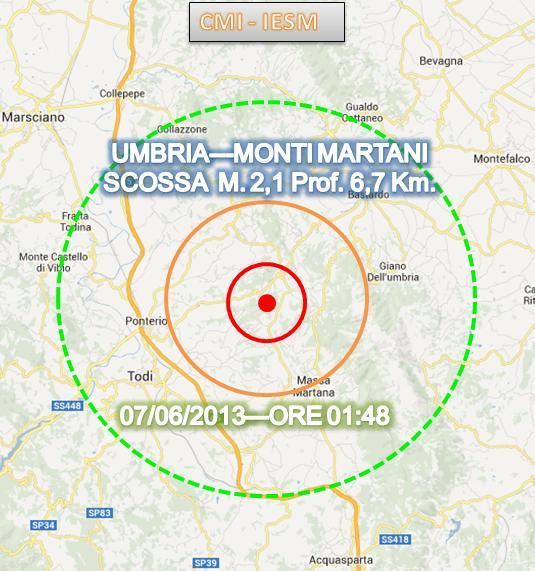 Terremoto Umbria 7 Giugno