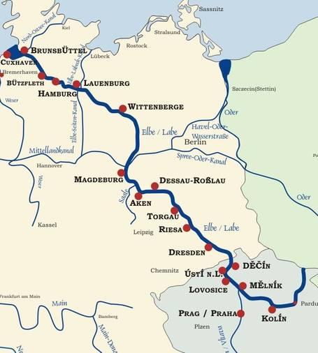 Cartina Germania Fiumi.Alluvione Germania Paura Per Il Cedimento Di Una Diga Posta Sul Fiume Elba
