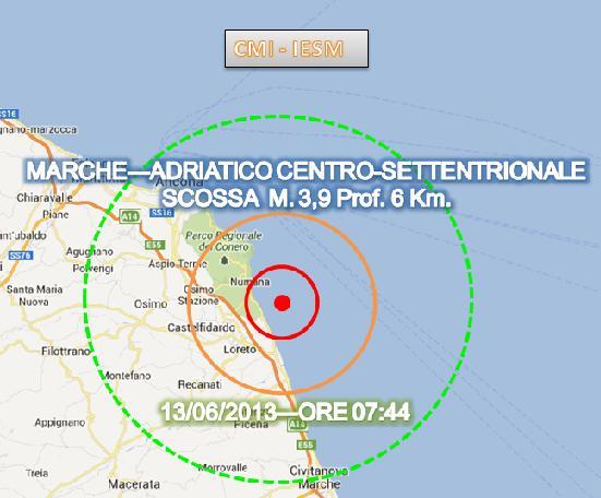 Terremoto Marche 13 Giugno