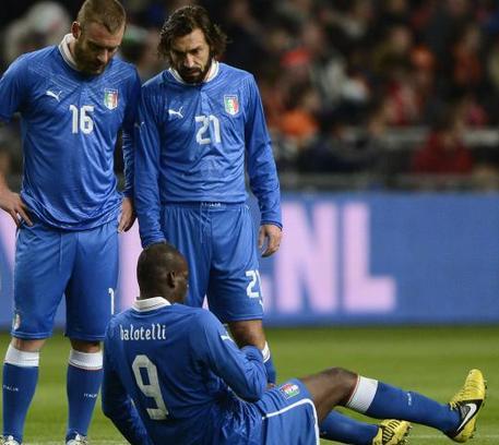 Italia Spagna Balotelli out