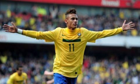 Il brasiliano Neymar, oggi impegnato nella finale della Confederation Cup