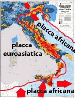 Italia dal 2005 netto aumento di forti terremoti for Mappa sismica italia