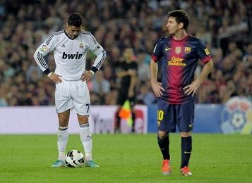 Barcellona-Real. El Clasico. Ronaldo e Messi.