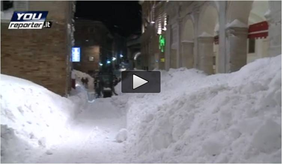 Neve record Urbino nel Febbraio 2012. Oltre 3 metri di coltre nevosa!