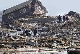 Immagini del violento sisma in Giappone del 2011