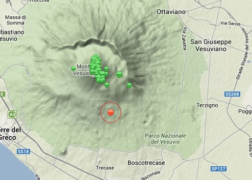 terremoto vesuvio oggi 11 febbraio