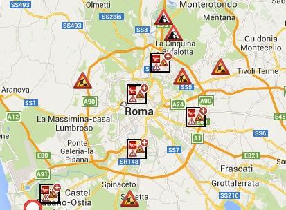 Traffico roma oggi in tempo reale blocchi e chiusure per for Traffico autostrade in tempo reale