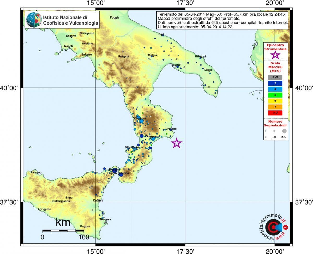 Terremoto Calabria: mappe dello scuotimento e degli ...