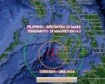 Terremoto Filippine oggi forte scossa m 6.2