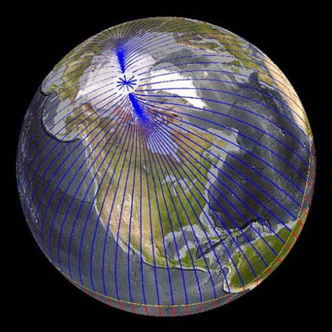 Spostamento del Polo Nord verso la SIberia