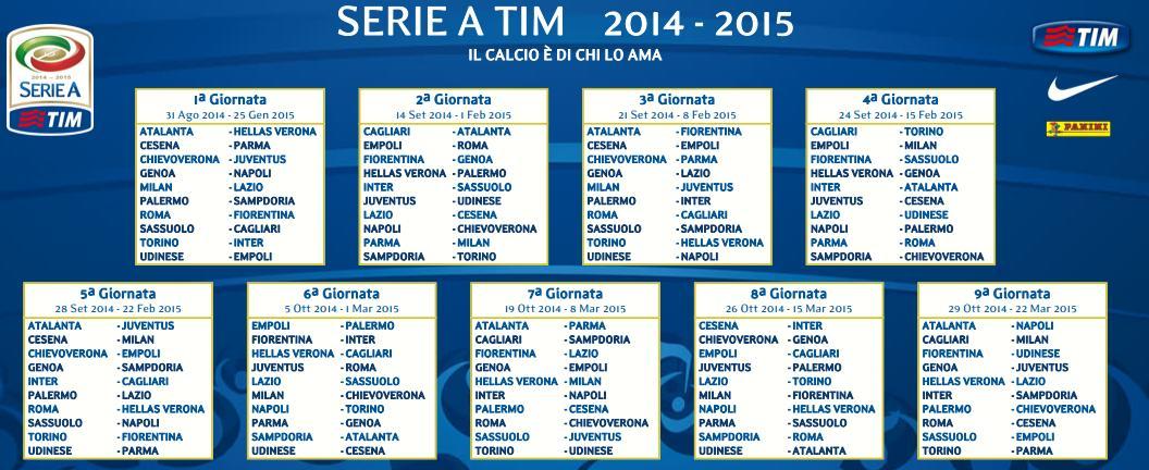 Calendario Iuve.Prima Giornata Calendario Serie A Juve Chievo E Roma