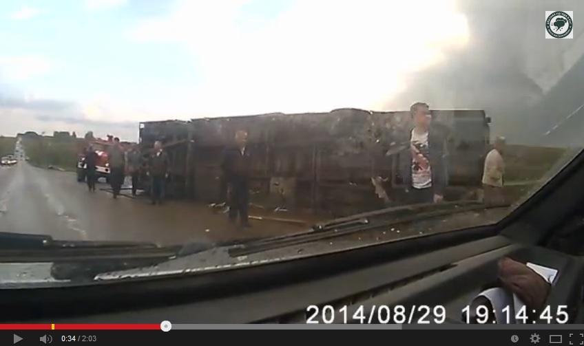 Danni causati dal tornado in Russia