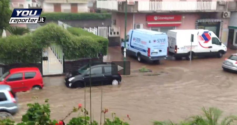 Nubifragio Catania: San Gregorio sommersa dall'acqua