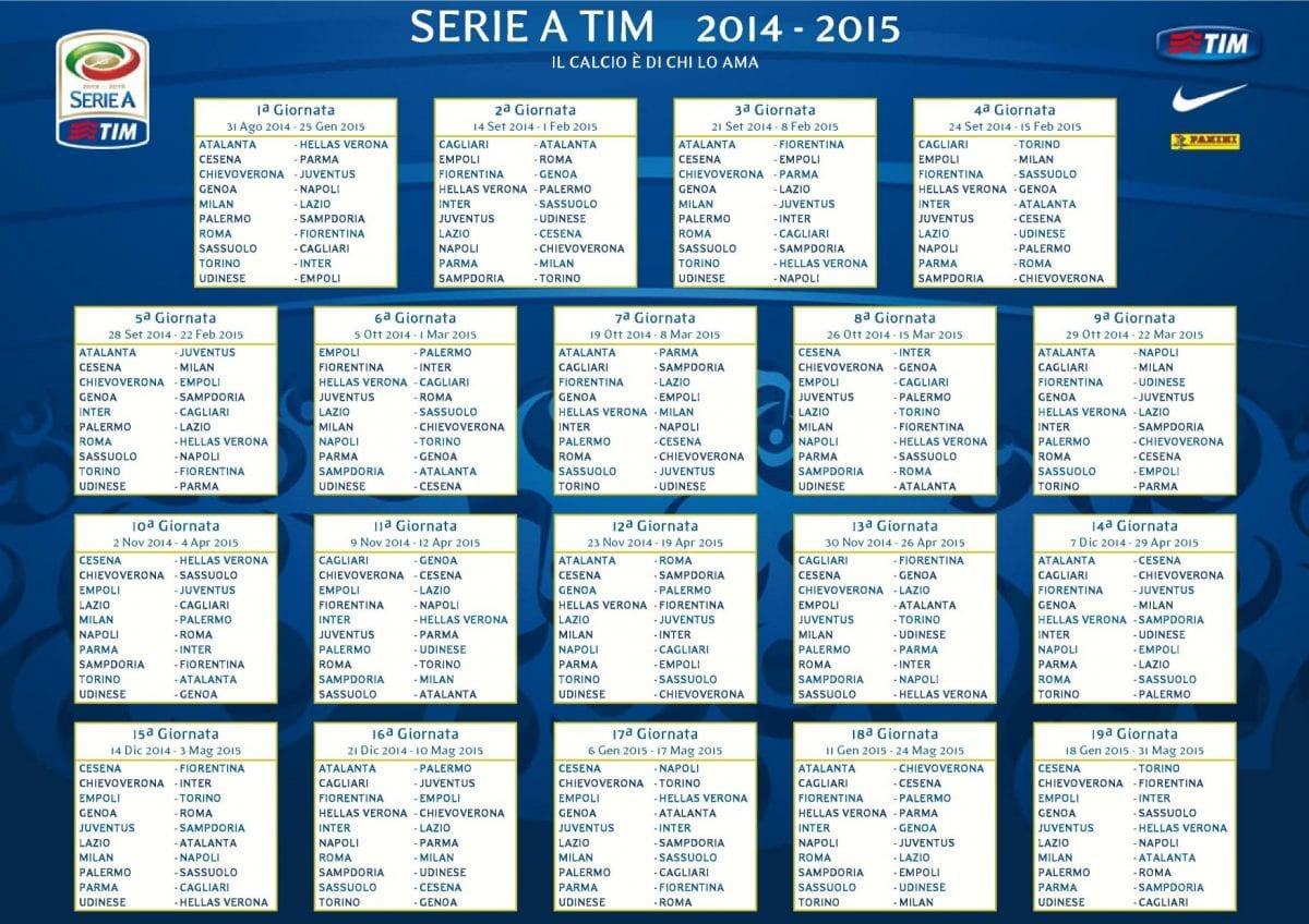 Calendario Serie A Ottava Giornata.Orari Prossimo Turno Serie A Ottava Giornata Anticipo