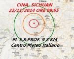 Terremoto Cina, forte scossa M 5.8 nell'ovest del Sichuan. Dati Usgs