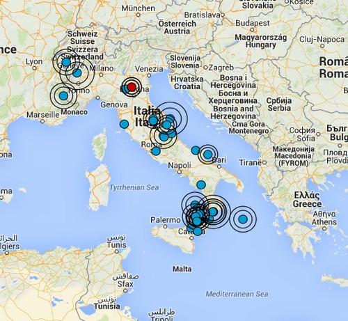 Terremoto oggi italia 29 novembre 2014 scossa magnitudo for Oggi in romagna