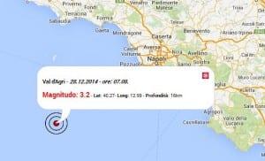 Terremoto oggi Italia, 28 Dicembre 2014 scossa M 3.2 nel Val d'Agri vicino Potenza. Dati Ingv