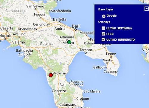 Cartina Calabria E Puglia.Terremoto Calabria Oggi 12 Gennaio 2015 Lieve Scossa M 2 2