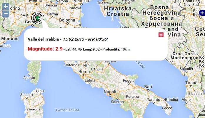 Terremoto oggi emilia romagna 15 febbraio 2015 scossa m for Oggi in romagna