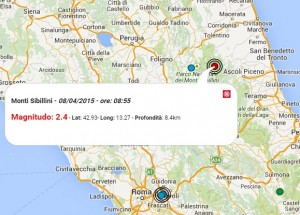 Terremoto oggi 8 aprile 2015