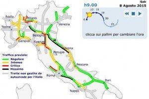 Situazione traffico autostrade in tempo reale 9 agosto for Traffico autostrade in tempo reale