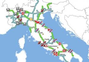 Live traffico autostrade 12 agosto 2015 previsioni for Traffico autostrade in tempo reale