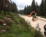 Frana nel bellunese colata di fango e detriti isola Cortina. Fonte: corrierealpi.gelocal.it
