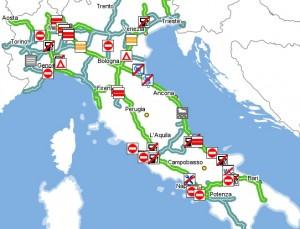 Traffico autostrade oggi 7 ottobre 2015 situazione in for Traffico autostrade in tempo reale