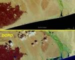 Ciclone Chapala prima e dopo il passaggio della tempesta sullo Yemen