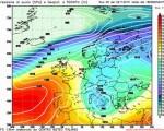Modello GFS elaborato dal nostro centro di calcolo - Pressione al livello del mare e geopotenziale a 500hPa per le 18Z del 26 novembre 2015