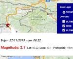 terremoto oggi friuli 27 novembre 2015