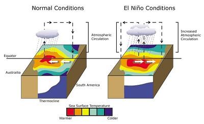 El Niño ormai completamente sviluppato a dicembre toccherà il suo picco massimo