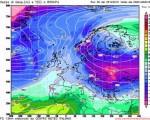 Analisi Modelli Gfs 00Z del 25 dicembre 2015: Temperature a 1500 metri di quota per la notte di Capodanno.
