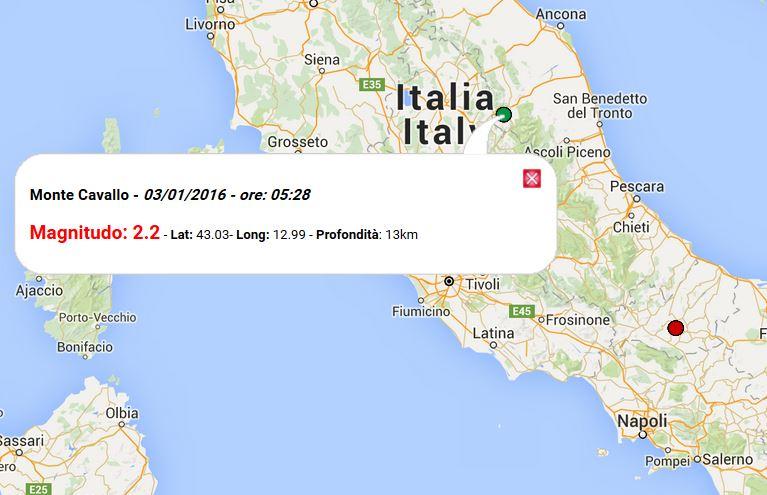 Terremoto Italia oggi 3 Gennaio 2016: lievi scosse in ...