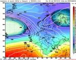 Modello GFS elaborato dal nostro centro di calcolo - Pressione al livello del mare e geopotenziale a 500hPa per le 00Z del 07 gennaio 2016