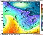 Modello GFS elaborato dal nostro centro di calcolo - Pressione al livello del mare e geopotenziale a 500hPa per le 15Z del 16 gennaio 2016