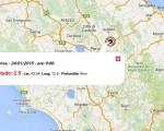 Terremoto Oggi Umbria, 24 Gennaio 2016 scossa di M 2.5 in provincia di Perugia - dati INGV