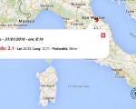 Terremoto oggi Marche, 31 gennaio 2016 scossa M 2.1 provincia di Pesaro e Urbino - dati INGV
