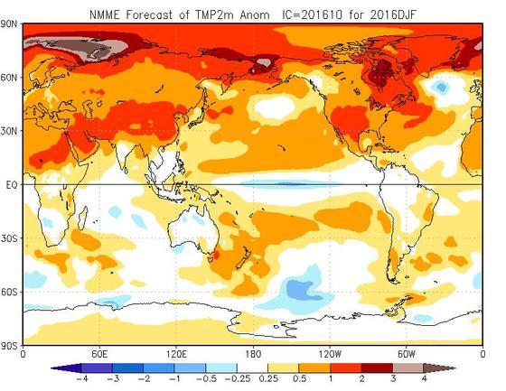 Meteo Inverno 2016-2017: prime tendenza meteo sulla stagione fredda in arrivo tra poco, vediamo temperature, pioggia e neve - cpc.ncep.noaa.gov