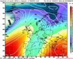 Modello GFS elaborato dal nostro centro di calcolo - Pressione al livello del mare e geopotenziale a 500hPa per le 00Z del 15 febbraio 2016