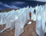 Penitentes quando la natura modella la neve in alte colonne appuntite