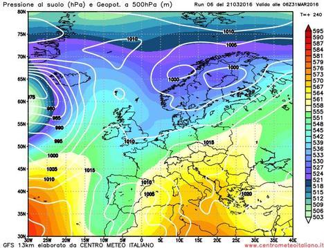 Anticiclone intervallato da perturbazioni Atlantiche per l'inizio di Aprile?