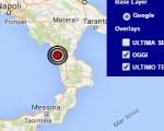 Terremoto oggi Calabria 4 aprile 2016 doppia scossa M 2.5 in provincia di Cosenza, dati Ingv