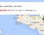 terremoto oggi sicilia m 2.4 catania m 2.3 isole eolie ing dati