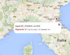Terremoto oggi emilia romagna 7 aprile 2016 scossa m 3 1 for Oggi in romagna