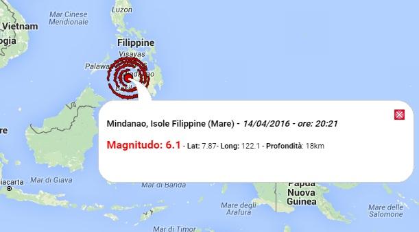terremoto oggi filippine