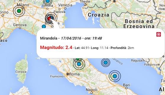 Terremoto oggi emilia romagna 17 aprile 2016 evento di m for Oggi in romagna
