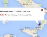 Terremoto oggi Abruzzo, 19 aprile 2016: scossa M 2.0 in provincia dell'Aquila, 2.4 Tirreno Meridionale. Epicentro ed ipocentro - Dati Ingv