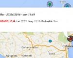 terremoto oggi catania 27 aprile 2016