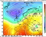 Modello GFS elaborato dal nostro Centro di Calcolo - Pressione al livello del mare e Geopontenziale a 500 hPa alle 12Z del 05 maggio 2016